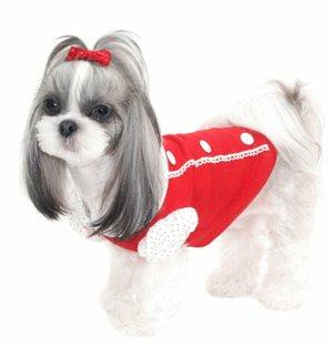 画像2: 【+180ポイント】愛犬服【メール便OK】秋冬物/パフプリティーTEE【Puppyzzang】2011