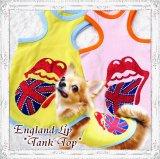 【夏セール】【XL】春 夏/愛犬服/イングランドLipタンクト ップ (Funky Star)