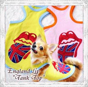 画像1: 【夏セール】【XL】春 夏/愛犬服/イングランドLipタンクト ップ (Funky Star)