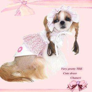 画像2: 犬 服/愛犬[メール便無料]ベイビッシュパフスリーブTEE ピンク-PUPPYZZANG/セット割引対象商品1420