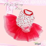 犬 服/愛犬[メール便無料]Cherry Shirring Dress[PUPPYANGEL]PA-DR102