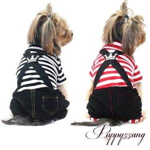 画像3: 【再入荷】【25%OFF】【2230円】【セール】【犬 服】【メール便OK】ボーダープリンスオールインワン【Puppyzzang】