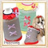 【新作】【セール】【メール便OK】犬服/キュートなフリルボーダーTEE【PUPPYZZANG】