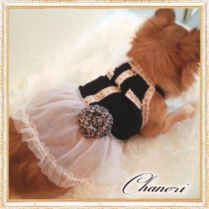 画像3: 【犬 服】【新作】【2380円〜】【メール便OK】【金ボタン】Coco調 キャミワンピ(Doggy Star)