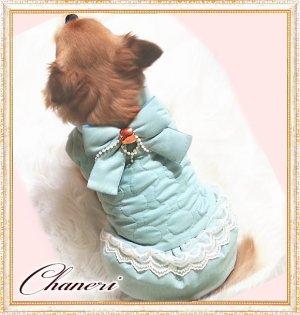 画像1: 【セール】【冬】【愛犬服】ラグジュアリーパールリボンコート【ZOOBICO】【メール便OK】