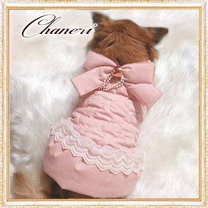 画像2: 【セール】【冬】【愛犬服】ラグジュアリーパールリボンコート【ZOOBICO】【メール便OK】
