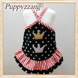 【新作】【犬 服】【Sale】水玉とストライプのキュートなキャミワンピ【Puppyzzang】【メール便OK】