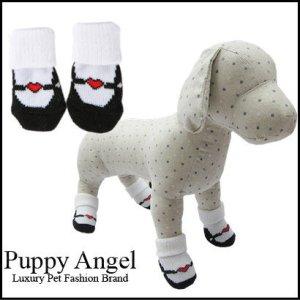画像1: 【愛犬】【Puppyangel】ストラップバレエシューズ風 ソックス【メール便OK】
