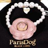 【犬用】【アクセサリー】カメリア&パールのネックレス【Parisdog】【メール便OK】