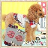 【新作】【春】【Sale 2180円】【犬 服】チェックポイント重ね着風TEE【ISBONBON】【メール便OK】