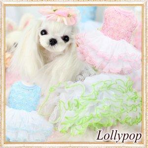 画像1: 【新作】【春夏】【Sale 2180円】【犬 服】ローズモチーフチュチュドレス【Lollypop】【メール便OK】
