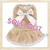 【犬 服】【30%OFF】【Sale3380円】 プラッシュファードレスベージュ【PrettyPet】【メール便OK】