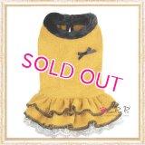 【犬 服】【30%OFF】【Sale3680円】 Cocoニッティードドレスマスタード【PrettyPet】【メール便OK】