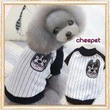 【新作】 【Sale】【1580円】【犬 服】DOGワッペンのストライプTEE【cheepet】【メール便OK】