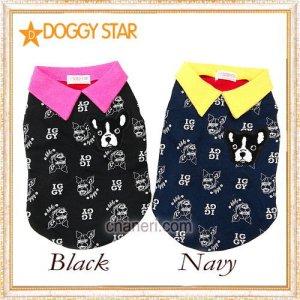 画像1: 【犬 服】【新作】 ブルドッグのカラーTEE【doggystar】【コカパパ妹】【メール便OK】