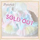 【最終Sale】【在庫限り】【1180円】マカロンカラ-のワンピース【petstyle】【メール便OK】