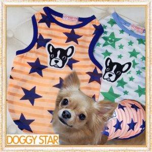 画像1: 【犬 服】【新作】【Sale】【1580円】スター&Dogのタンクトップ【Doggy Star】【メール便OK】