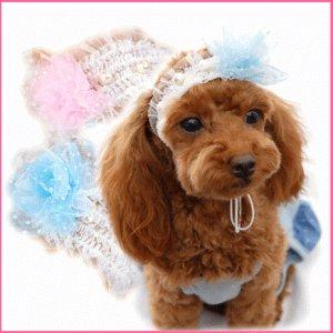 画像1: 愛犬用/レースフラワーヘッドドレス [コカパパ] 2011