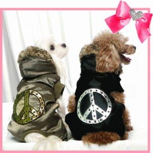 画像1: 犬 服/愛犬[セール]【送料無料】リバーシブル ピースファーオ-ルインワン/コカパパ